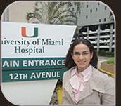 Foto da Dra. Marília na University of Miami Hospital